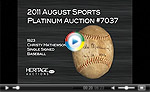 1923 Christy Mathewson Single Signed Baseball.